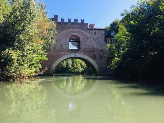 Ponte Nomentano dall'acqua