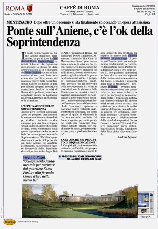 Ponte Ciclopedonale Aniene Zocchi